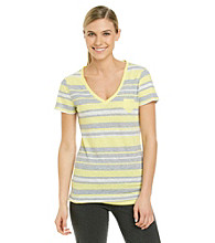 Calvin Klein Performance Striped V-Neck Pocket Tee