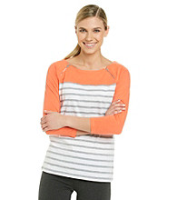 Calvin Klein Performance Striped Boatneck Tee