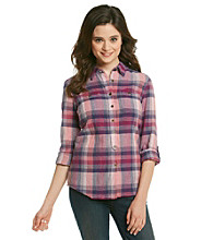 Ruff Hewn Buffalo Check Collared Buttondown Shirt