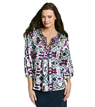 Jones New York Signature® Multi Colored Embellished Tunic