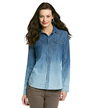 Jones New York Signature® Ombre Denim Shirt