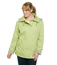 Mackintosh Plus Size Poplin Drop Pocket Coat