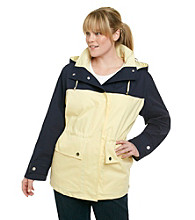 Mackintosh Plus Size Colorblock Anorak Poplin Coat