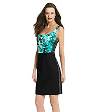 T Tahari Hallie Sleeveless Scoopneck Dress
