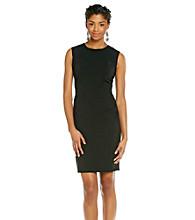 Calvin Klein Woven Sleeveless Scoopneck Dress