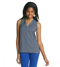 Vince Camuto® Sleeveless Medallion Hi-Low Blouse