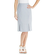 Evan-Picone® Seersucker Pencil Skirt