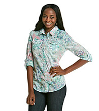Relativity® Casual Printed Button-Front Shirt