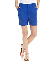 Relativity® Casual Roll Cuff Cargo Short