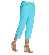 Ruby Rd.® Embellished Canvas Capri