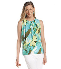 Ruby Rd.® Scoop Neckline All Over Print Charmeuse Top