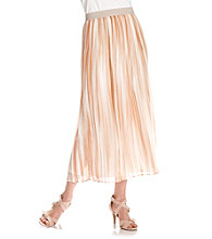 Ruby Rd.® Allover Stripe Print Full Length Sheer Skirt