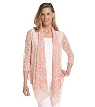 Ruby Rd.® Shawl Collar Lace Cardigan