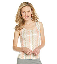 Ruby Rd.® Scoop Neckline Tie-dye Sequin Top