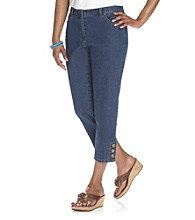 Ruby Rd.® Denim Button Cuff Capri