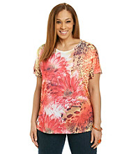 Breckenridge® Plus Size Double Gulp Sublimation Tee
