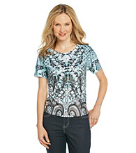 Breckenridge® Petites' Vintage Borders Sublimation Tee