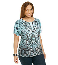 Breckenridge® Plus Size Vintage Borders Sublimation Tee