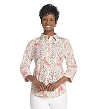 Breckenridge® Sugarwater Butterflies Burnout Woven Shirt