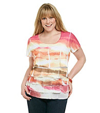 Laura Ashley® Plus Size Shutter Sublimation Tee