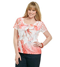 Laura Ashley® Plus Size Lace Blossom Sublimation Tee