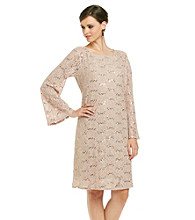 MSK® Bell Sleeve Stretch Lace Dress