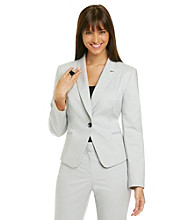 Nine West® Stretch Notch Collar Novelty Button Jacket