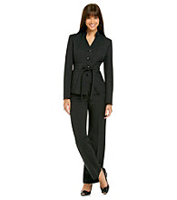 Le Suit® Glazed Mélange Self Belt Jacket with Pant