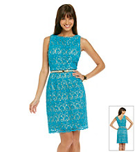 Muse Floral Lace Sheath Dress