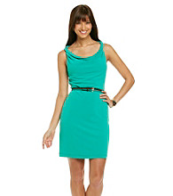 Muse Twisted Strap Matte Jersey Sheath Dress