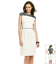 Anne Klein® Lace Panel Sheath Dress
