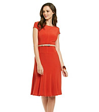 Anne Klein® Full Skirt Matte Jersey Dress