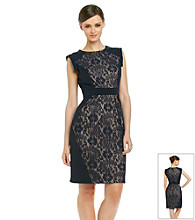 Adrianna Papell® Lace Blocked Sheath Dress