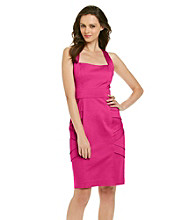 Calvin Klein Cross Back Inset Waist Dress with Side Banding