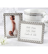 Kate Aspen Silver Braided Elegant Photo Frame