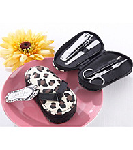 Kate Aspen Cheetah Chic Flip-Flop Pedicure Kit