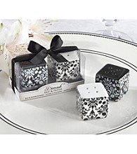 Kate Aspen Damask Ceramic Salt and Pepper Shakers