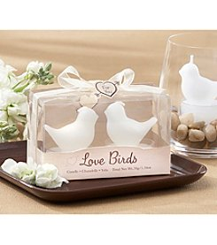 Kate Aspen Set of 12 Love Birds White Bird Tea Candles