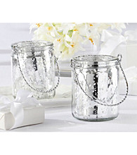 Kate Aspen Silverlight Mercury Glass Tealight Holder
