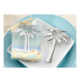 Kate Aspen Set of 12 Palm Breeze Chrome Palm Tree Bottle Ope