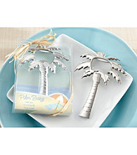 Kate Aspen Set of 12 Palm Breeze Chrome Palm Tree Bottle Opener