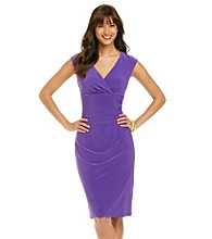 Ronni Nicole® Surplice Knit Dress