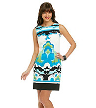 AGB® Printed Sheath Dress