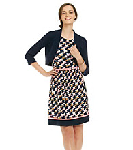 Jessica Howard® Print Knit Dress with Sweater