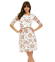 Jessica Howard® Floral Print Lace Dress