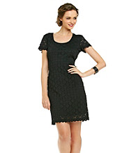 Ronni Nicole® Pointelle Knit Dress