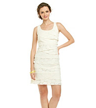 S.L. Fashions Lace Tiered Dress