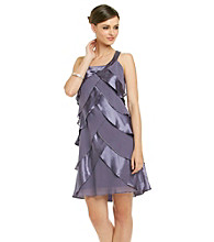 S.L. Fashions Chiffon Tiered Dress