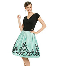 S.L. Fashions Appliqued Party Dress