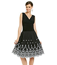 S.L. Fashions Embroidered Party Dress
